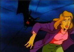Dracula Bat Chases Woman DSD