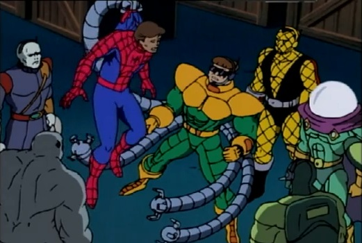File:Peter Parker & Insidious Six (Earth-92131).jpg