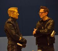 GOTGVol2 Pic of the Day Ben Browder and James Gunn