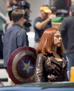 Film set pic Captain America 2 10