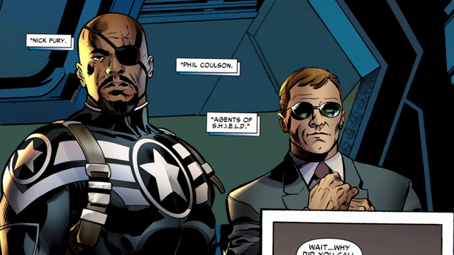 File:Nick Fury & Phil Coulson (75 Years - Pulp to Pop).png