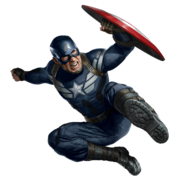 Captain America TWS-flying air kick