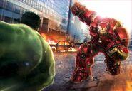 AoU Hulk-Hulkbuster battle