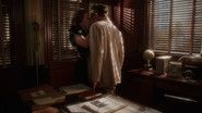 Peggy Carter kisses Daniel Sousa