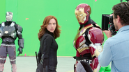 Black Widow with Iron Man & War Machine (Atlanta, GA - The Making of CACW)