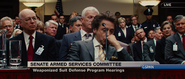 Tony Stark - Weaponized Suit Defense Program Hearing (IM2)
