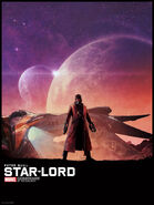 Star-Lord illustrated poster