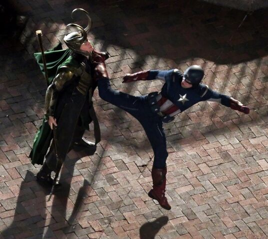 File:Avengers filming captain-loki fight.jpg
