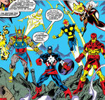Avengers (Earth-9105) from New Warriors Vol 1 11 0001