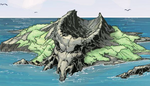 Goat Skull Island from Prelude to Deadpool Corps Vol 1 4