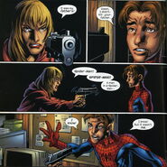 Gwendolyne Stacy (Earth-1610) and Peter Parker (Earth-1610) from Ultimate Spider-Man Vol 1 59 001
