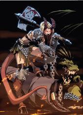 Illyana Rasputina (Earth-616) and N'Astirh (Earth-616) from New X-Men Vol 2 38 0001