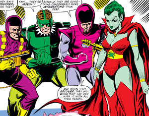 Frightful Four (Earth-616) Trapster, Sandman, Wizard, Llyra from Amazing Spider-Man Vol 1 214