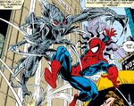 Spider-Slayer Mark X and Peter Parker (Earth-616) from Amazing Spider-Man Vol 1 368 001