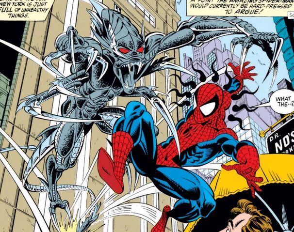 File:Spider-Slayer Mark X and Peter Parker (Earth-616) from Amazing Spider-Man Vol 1 368 001.jpg