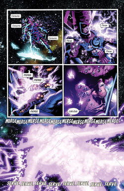 Galactus (Earth-616) merged with Gah Lak Tus (Earth-1610) from Hunger Vol 1 1 001