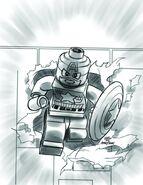 Captain America Vol 7 12 LEGO Sketch Variant Textless