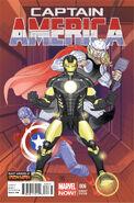 Captain America Vol 7 6 Many Armors or Iron Man Variant