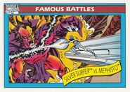 Norrin Radd vs. Mephisto (Earth-616) from Marvel Universe Cards Series I 0001