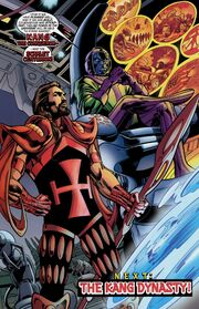Kang and the Scarlet Centurion during Avengers Vol 3 40