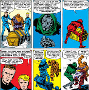Reed Richards tricks Doctor Doom from Fantastic Four Vol 1 5