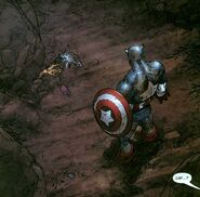 Steven Rogers (Earth-616) Captain America after the death of Baron Zemo from Avengers Earth's Mightiest Heroes Vol 1 7