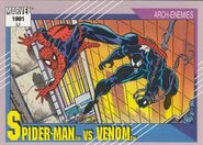 Peter Parker vs. Edward Brock (Earth-616) from Marvel Universe Cards Series II 0001