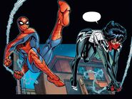 Peter Parker (Tony Richards) (Earth-616) and Cindy Moon (Jessica Drew) (Earth-616) from Amazing Spider-Man & Silk- The Spider(fly) Effect Infinite Comic Vol 1 1 001