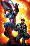 Steven Rogers (Earth-616) and James Buchanan Barnes (Earth-616) from All-New Invaders Vol 1 1 001