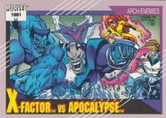 X-Factor vs. En Sabah Nur (Earth-616) from Marvel Universe Cards Series II 0001