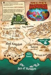 Greenland (Battleworld)'s Map from Planet Hulk Vol 1 1