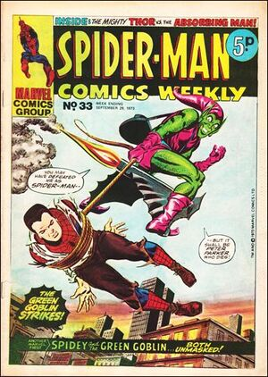 Spider-Man Comics Weekly Vol 1 33