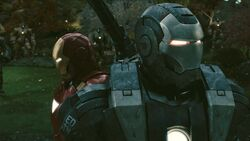 Anthony Stark (Earth-199999) and James Rhodes (Earth-199999) from Iron Man 2 (film) 001