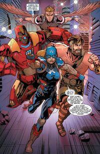 Avengers (Earth-23291) from Secret Wars 2099 Vol 1 1 0001