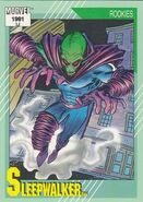 Sleepwalker (Earth-616) from Marvel Universe Cards Series II 0001