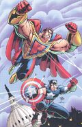 Steven Rogers (Earth-616) and Kevin Green (Earth-93060) from Battlezones Dream Team 2 Vol 1 1 0001
