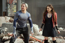 Pietro Maximoff (Earth-199999) and Wanda Maximoff (Earth-199999) from Avengers Age of Ultron 001