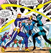 Lomen, Banca Rech, Franklin Hall (Earth-616) from West Coast Avengers Vol 1 13