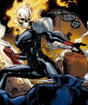 Alejandra Jones (Earth-616) and Johnathon Blaze (Earth-616) from Ghost Rider Vol 7 2 001
