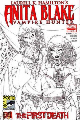 File:Anita Blake Vampire Hunter - The First Death Vol 1 1 SDCC Sketch Variant.jpg