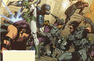 Archetypes of J.U.S.T.I.C.E. (Earth-4290001) from New Avengers Vol 3 16.NOW 0001