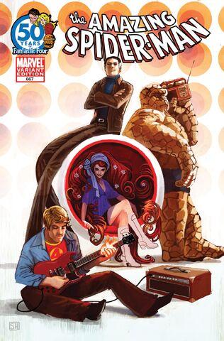 File:Amazing Spider-Man Vol 1 667 Fantastic Four 50th Anniversary Variant.jpg