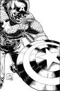 Captain America Vol 7 1 Quesada Sketch Variant Textless