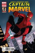 Captain Marvel Vol 7 1 50 years of Spider-Man Variant
