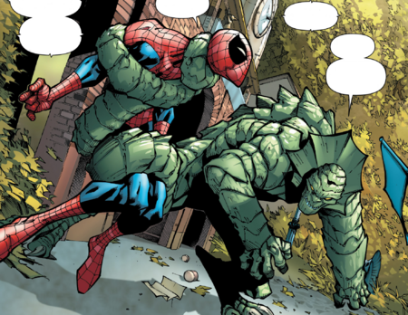 Iguana (Earth-616) vs Peter Parker (Earth-616) from Amazing Spider-Man Vol 3 16 Page 5
