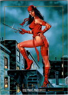 Elektra Natchios (Earth-616) from Marvel Masterpieces Trading Cards 1992 0001