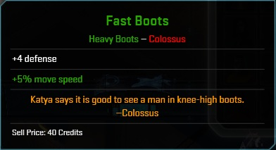 Equipment-Boots-Fast Boots (Colossus 4)