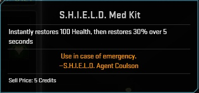 Consumable- S.H.I.E.L.D. Med Kit