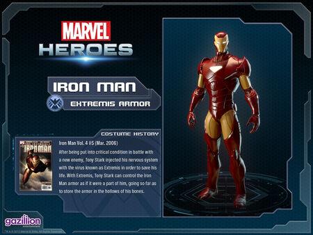 Costume ironman extremis