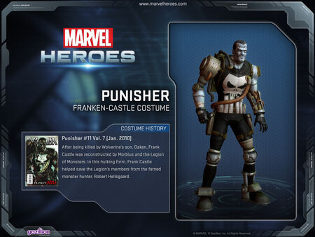 Costume punisher frankencastle